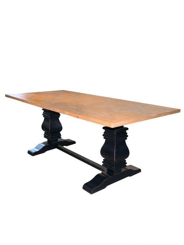 画像1: Dinning Table / ダイニングテーブル[Natural x Black] (1)