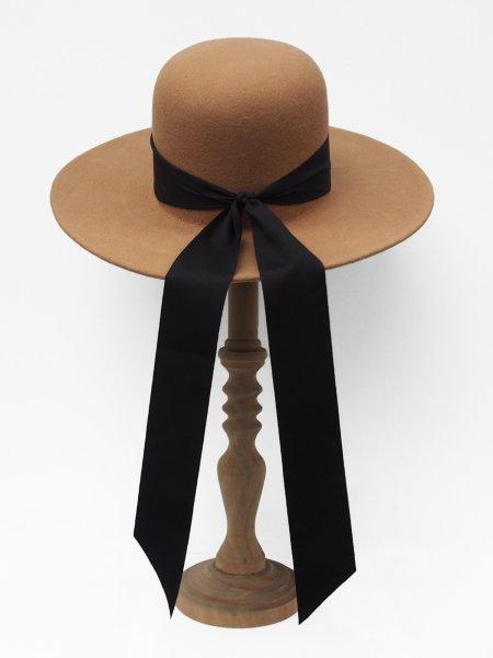 画像1: ★60%OFF★【BAGTAZO】MADELINE HAT/リボン付きハット[Camel] (1)