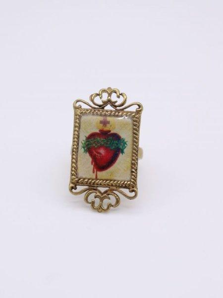 画像1: ★40%OFF★【DEFY JEWELRY】The Sacred Heart Ring (1)