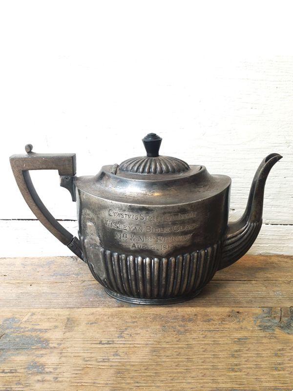 画像1: ★30%OFF★【Vintage】 50'S Silver Tea Pot / ヴィンテージシルバーティーポット (1)