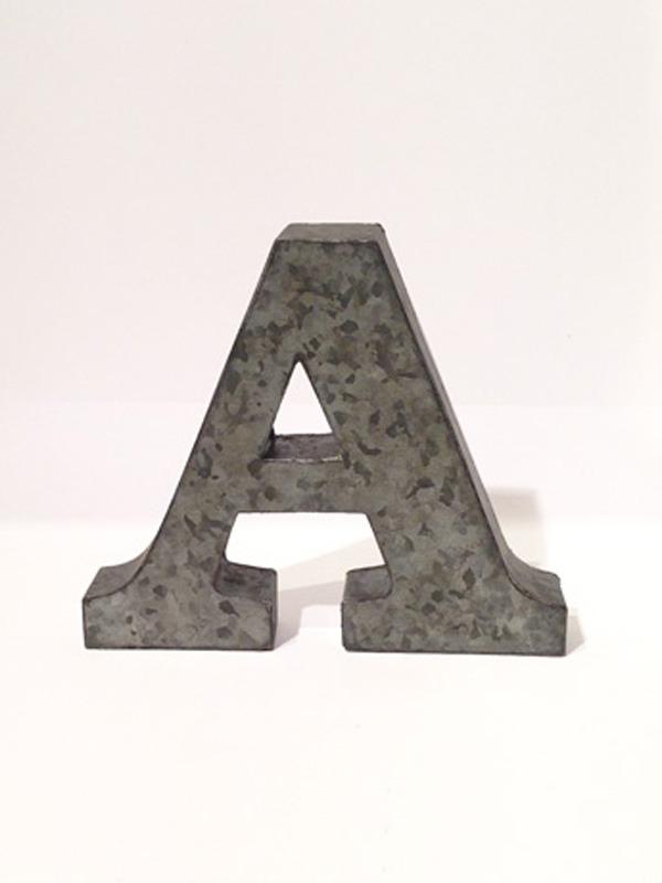 画像1: ★60%OFF★★Tin Small Letters / ブリキアルファベットオブジェミ二 (1)