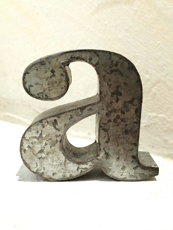 画像1: ★60%OFF★Tin Small Letters / ブリキアルファベットオブジェミ二[小文字] (1)