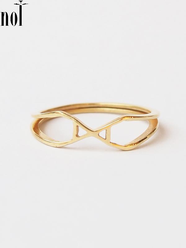 """画像1: 【nol】 Alphabet Ring / アルファベットリング """"X""""[Gold/11号、13号] (1)"""