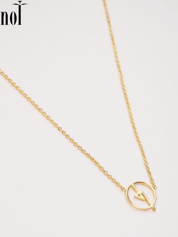 """画像1: 【nol / ノル】Alphabet Necklace / アルファベットネックレス""""Q""""[Gold] (1)"""