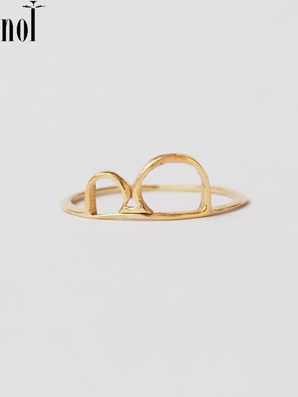 """画像1: 【nol】 Alphabet Ring / アルファべットリング""""B""""[Gold/4号、11号、13号] (1)"""