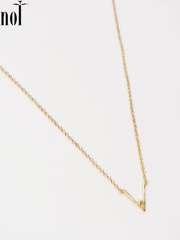 """画像1: 【nol / ノル】Alphabet Necklace / アルファベットネックレス""""V""""[Gold] (1)"""