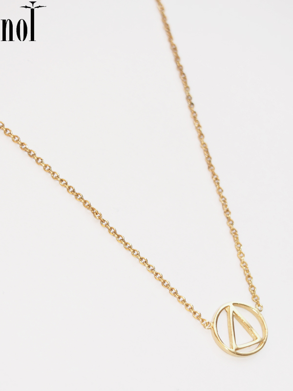 """画像1: 【nol / ノル】Alphabet Necklace / アルファベットネックレス""""O""""[Gold] (1)"""