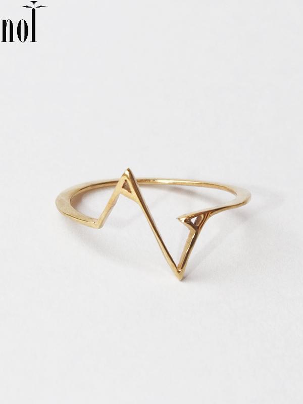 """画像1: 【nol】 Alphabet Ring / アルファベットリング """"Z""""[Gold/11号、13号] (1)"""