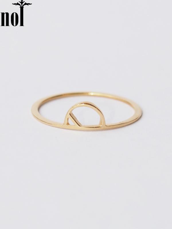 """画像1: 【nol】 Alphabet Ring / アルファベットリング """"P""""[Gold/11号、13号] (1)"""