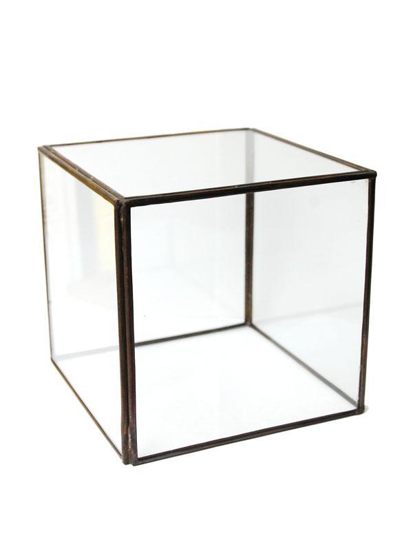 画像1: ★50%OFF★Glass Terrarium / ガラステラリウム[15.8×15.8×15.8] (1)