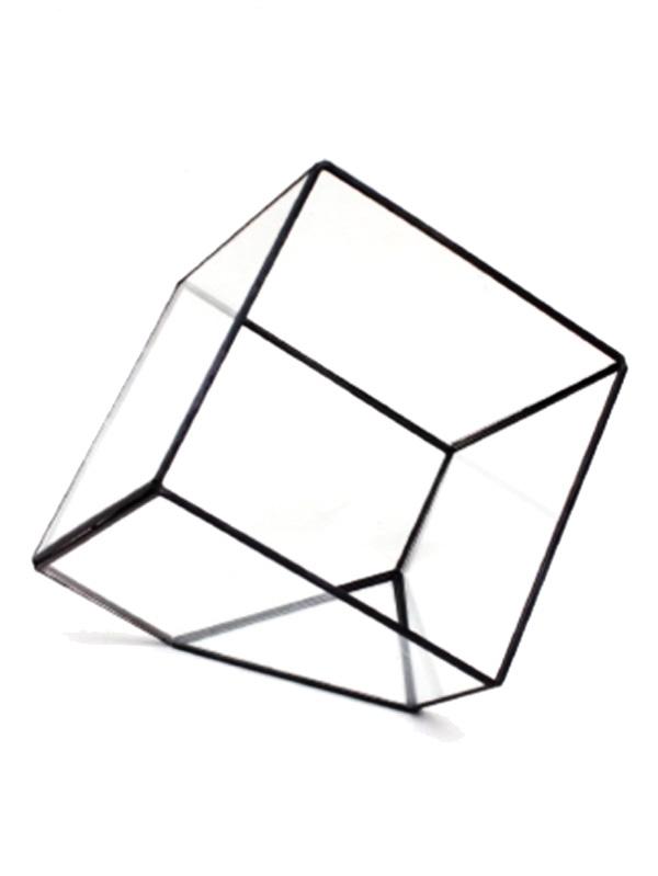画像1: ★60%OFF★Glass Terrarium / ガラステラリウム[CUBE-L] (1)