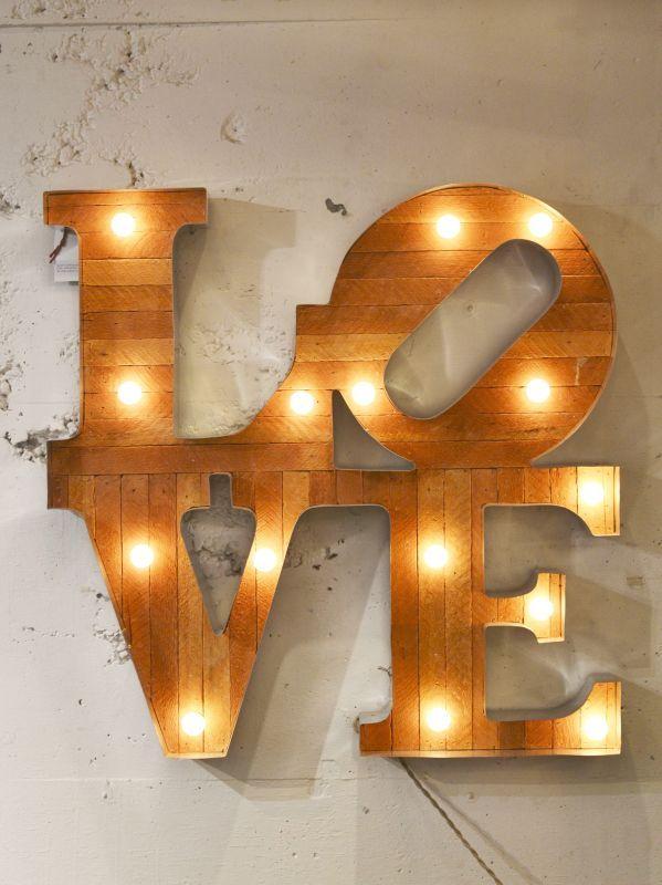 画像1: 再入荷【Scott Coppersmith Designs / スコットコッパースミスデザイン】Marquee Light[LOVE] (1)