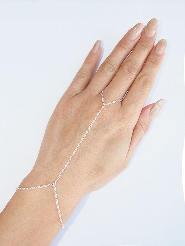 画像1: ★70%OFF★【VIDAKUSH / ヴィーダクシュ】Dainty Hand Chain / ハンドチェーン[Silver] (1)