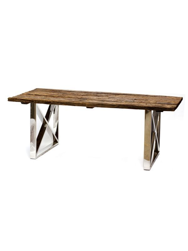 画像1: ★30%OFF★Dinning Table / ダイニングテーブル[Brown x Silver] (1)