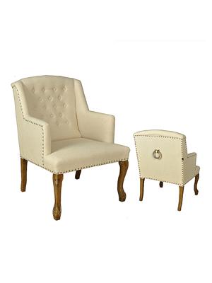 画像1: ★30%OFF★Sofa Chair / ソファチェア[Ivory] (1)