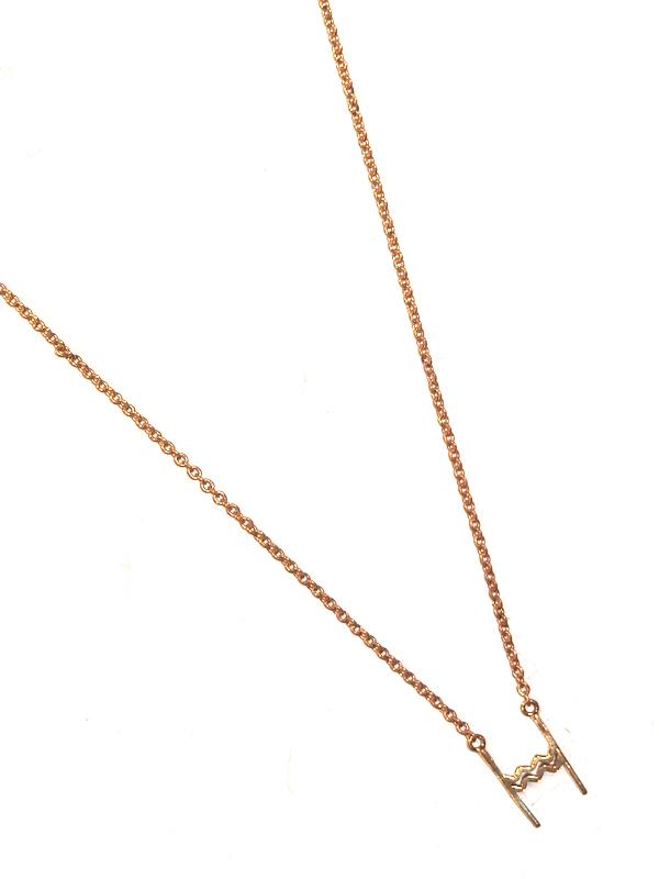 """画像1: 【nol / ノル】Alphabet Necklace / アルファベットネックレス""""H""""[Gold] (1)"""