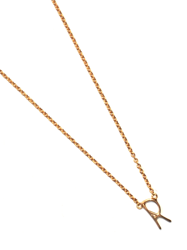 """画像1: 【nol / ノル】Alphabet Necklace / アルファベットネックレス""""R""""[Gold] (1)"""
