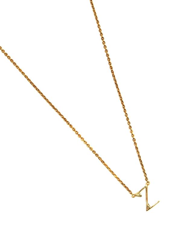"""画像1: 【nol / ノル】Alphabet Necklace """"Z"""" / アルファベットネックレス""""Z""""[Gold] (1)"""