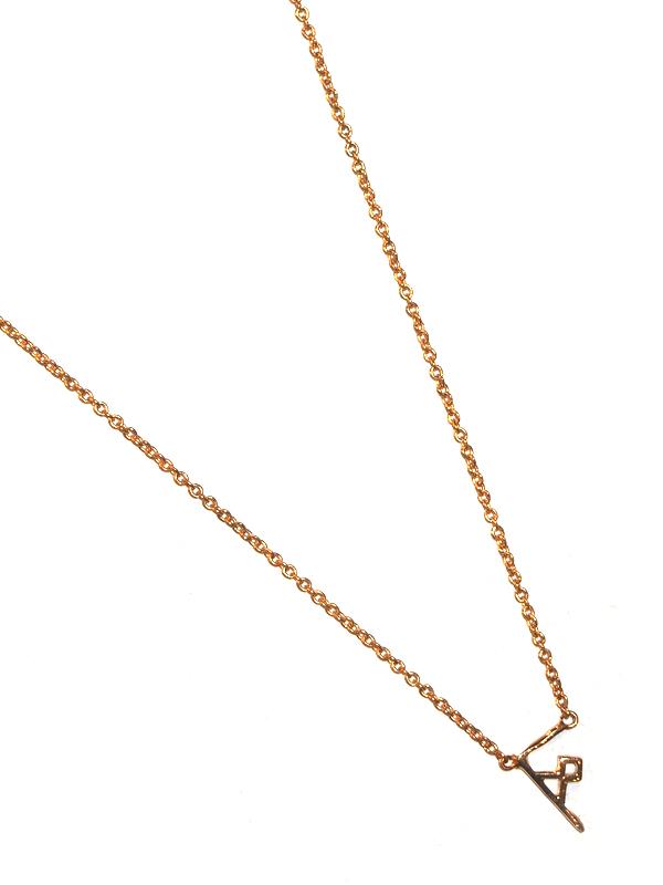 """画像1: 【nol / ノル】Alphabet Necklace / アルファベットネックレス""""F""""[Gold] (1)"""