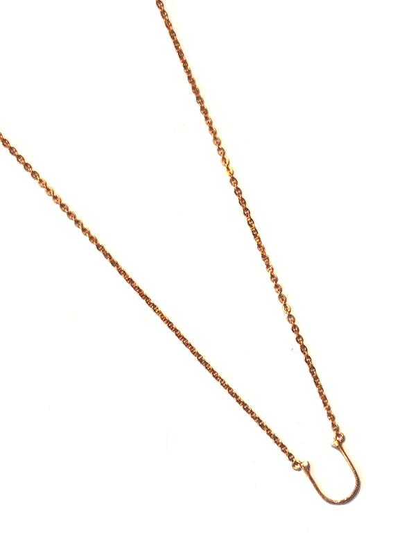 """画像1: 【nol / ノル】Alphabet Necklace / アルファベットネックレス""""U""""[Gold] (1)"""