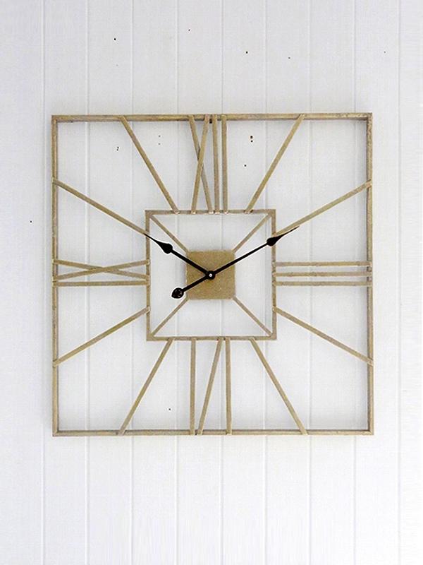 画像1: Champagne Iron Wall Clock / シャンパーニュアイアンウォールクロック[Gold] (1)