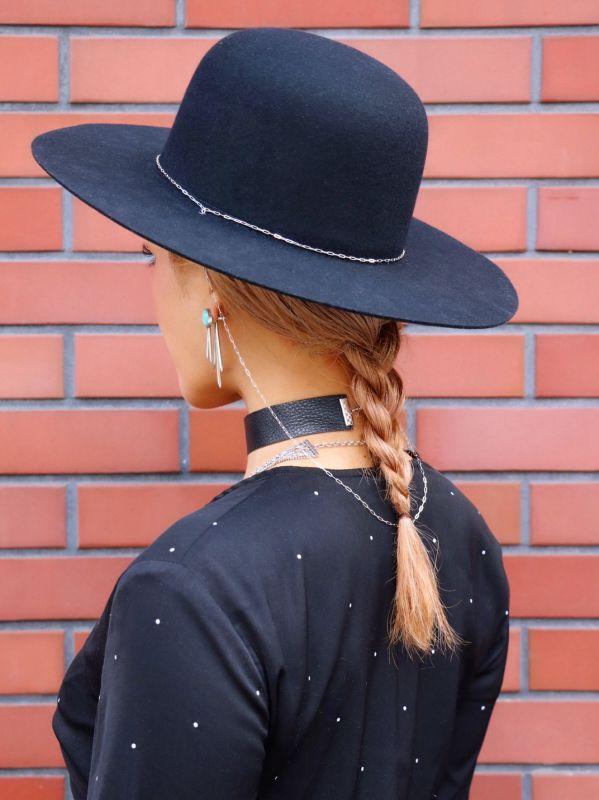 画像1: ★50%OFF★【BAGTAZO / バグタゾ】Mountain Hat / チェーン付きウールハット[Black x Silver] (1)