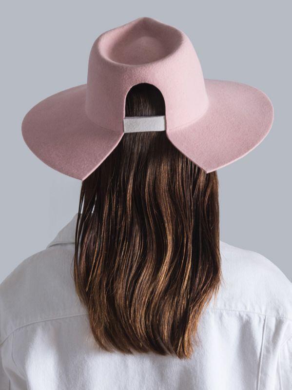 画像1: ★60%OFF★【DON PARIS】 MIRTHA Cut Brim Hat /カットブリムウールハット[Pink] (1)