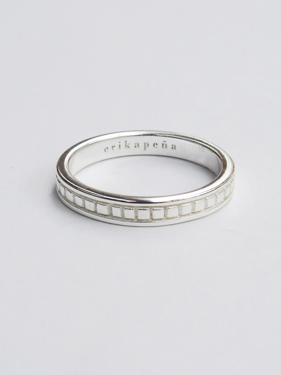 画像1: ★50%OFF★【Erika Pena / エリカ ペナ】Gitana Thin Stack Repyile Ring / レプティルリング[Silver / 7、8号] (1)