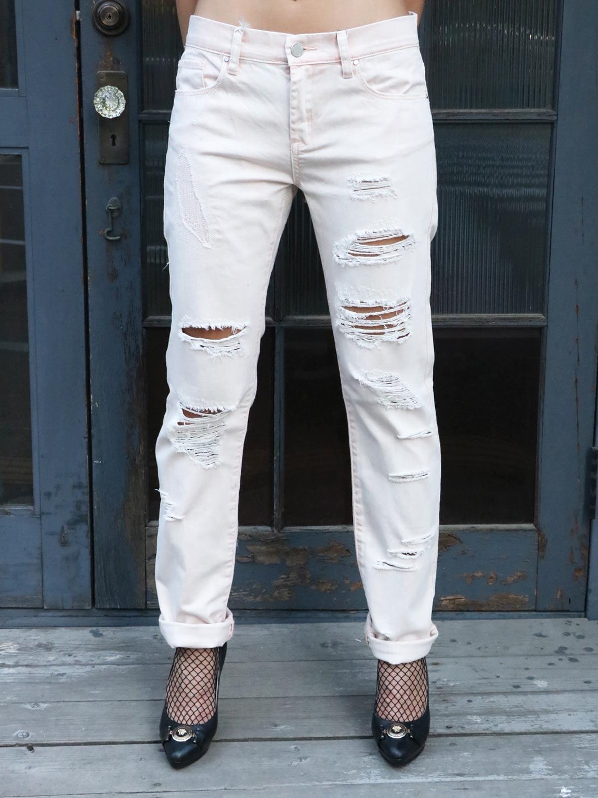 画像1: ★70%OFF★【BLANK NYC / ブランク】Dameged Boyfriend Jeans / ダメージボーイフレンドジーンズ[Vintage Pink] (1)