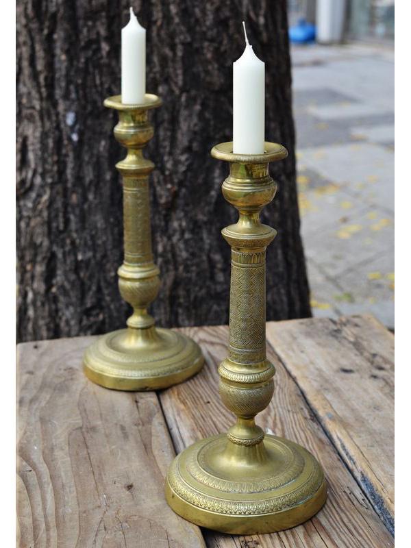 画像1: ★50%OFF★【Vintage】Brass Candle Stand / 真鍮製ヴィンテージキャンドルスタンド[Set2] (1)