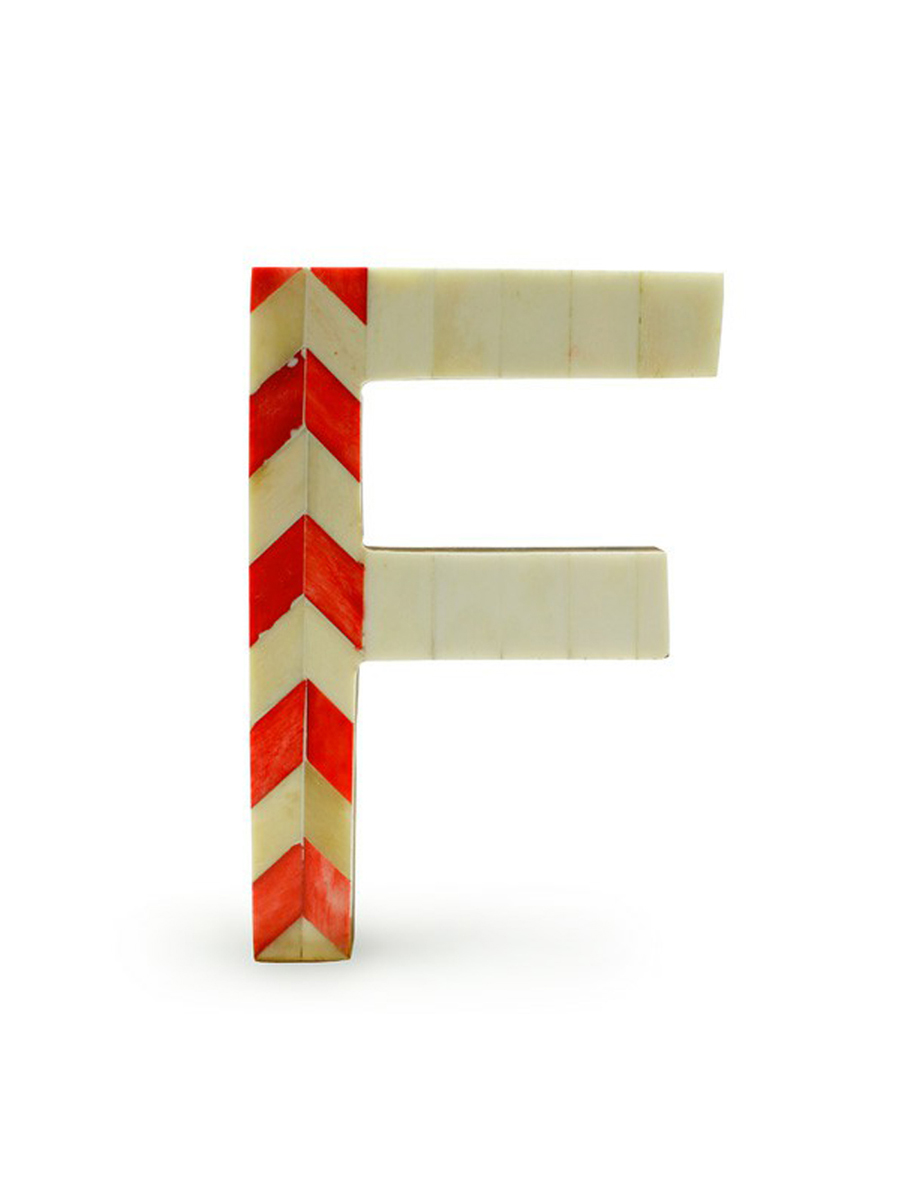 画像1: ★60%OFF★【MONIQUE CHARTLAND by GOODY GRAMS / モニークチャートランド】Bone Letter Object[F] (1)