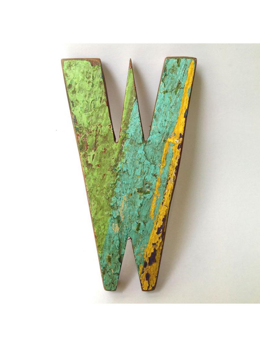 画像1: ★60%OFF★Scrap Wood Letters / 切文字アルファベット[W] (1)