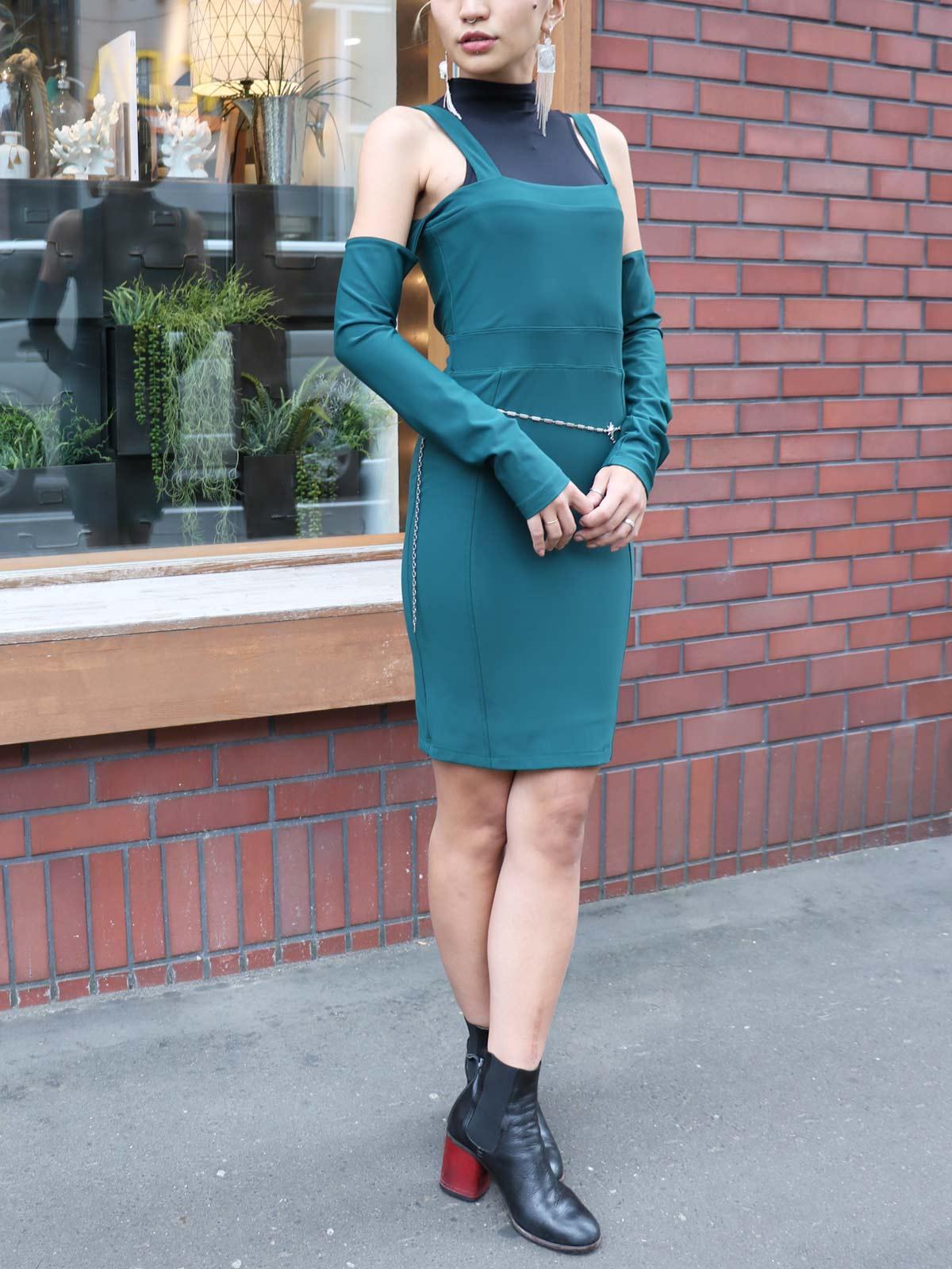 画像1: ★80%OFF★【BOULEE】Kirsten Open Shoulder Dress / オープンショルダードレス[Hunt] (1)