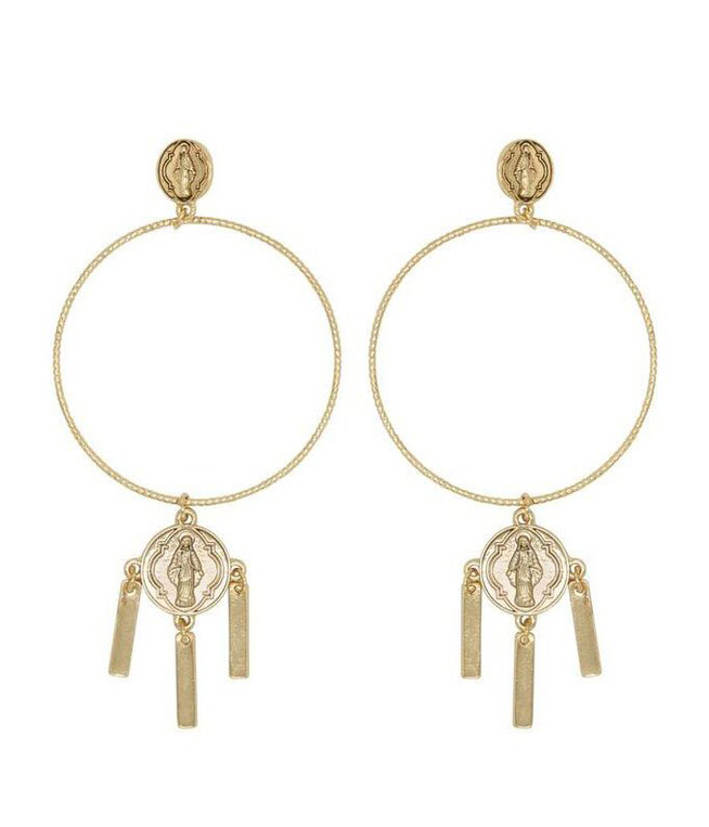 画像1: ★50%OFF★【8 OTHER REASONS】MADDONA EARRING マリアフープピアス [Gold] (1)