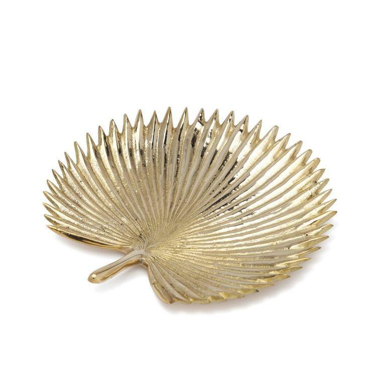 画像1: ★30%OFF★【ANNA+NINA】GINGKO DISH  / 真鍮製ディッシュ・トレー[GOLD-Msize] (1)