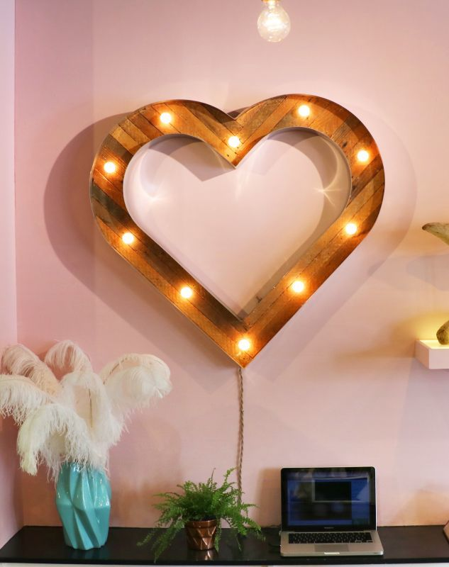 画像1: ★40%OFF★【Scott Coppersmith Designs / スコットコッパースミスデザイン】Marquee Light[Large Heart] (1)