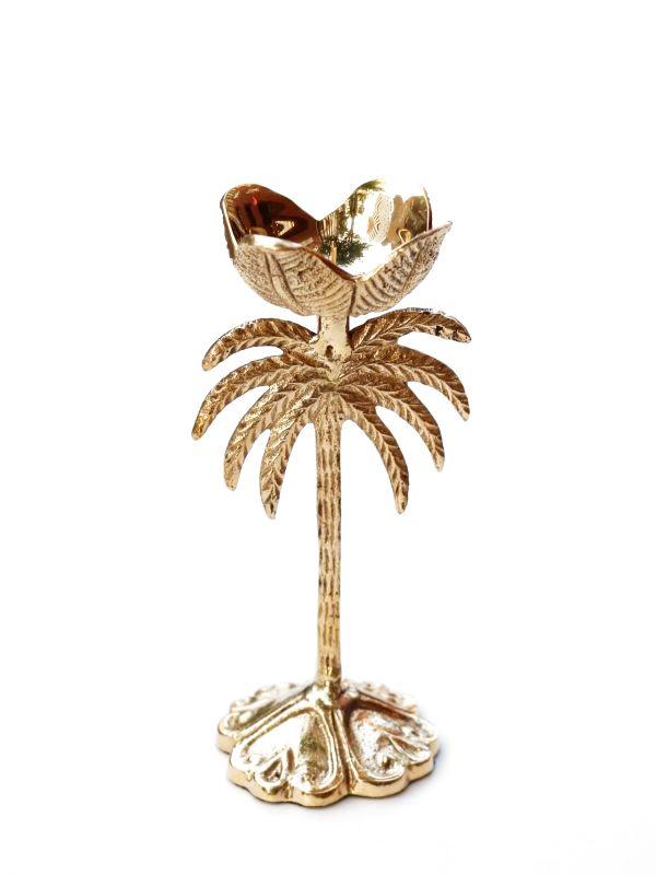 画像1: ★30%OFF★【ANNA+NINA】Palm Candle Holder / 真鍮製パーム椰キャンドルホルダー[Antique Gold] (1)
