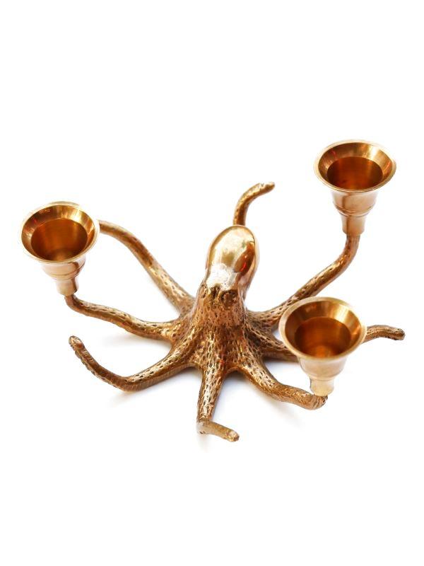 画像1: ★30%OFF★【ANNA+NINA】Octopus Candle Holder / 真鍮製オクトパスキャンドルホルダー[Antique Gold] (1)