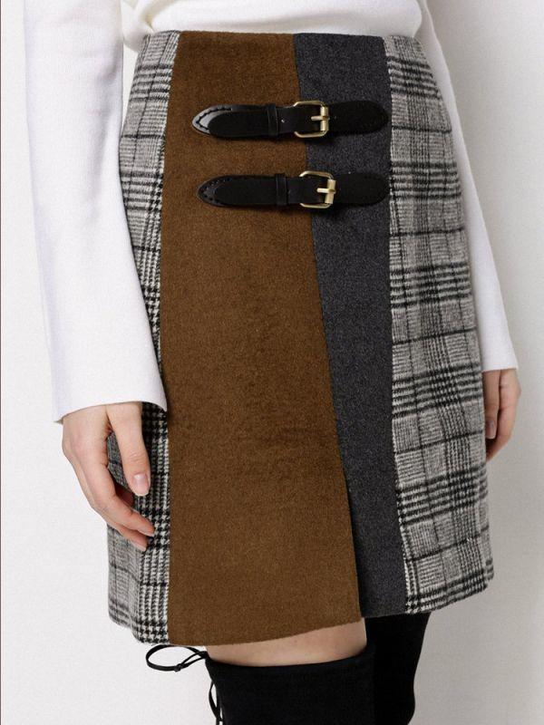 画像1: ★50%OFF★【CAARA】Tortine Skirt  / 台形スカート[Multi] (1)