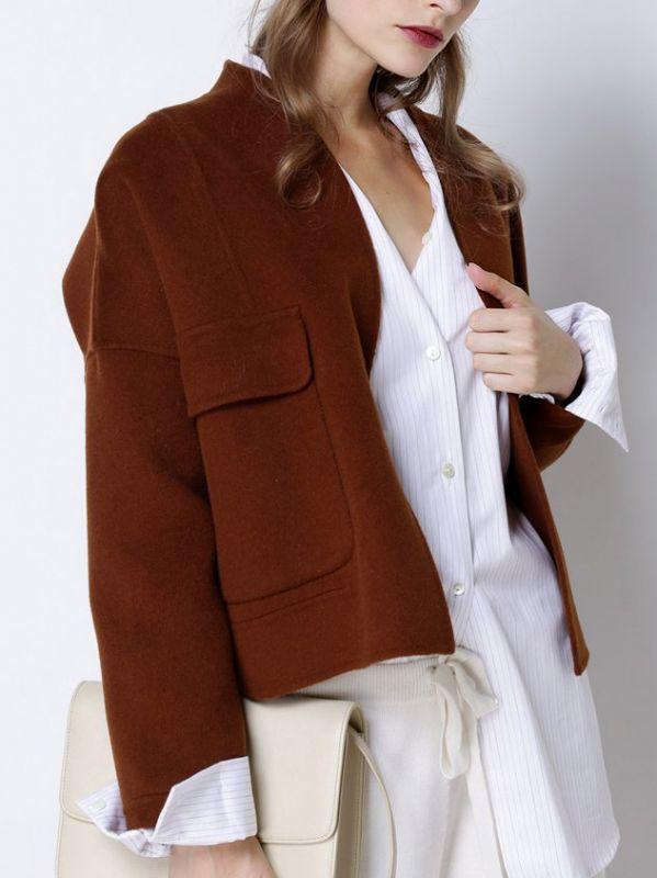 画像1: ★40%OFF★【CAARA】Wool Jean Gene  Jacket  / ウールジャケット [Bourbon] (1)