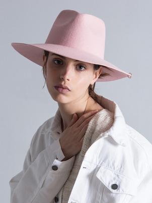 画像1: ★60%OFF★【DON PARIS 】 MIRTHA Renton Hat/ ピアス付きウールハット[Pink] (1)