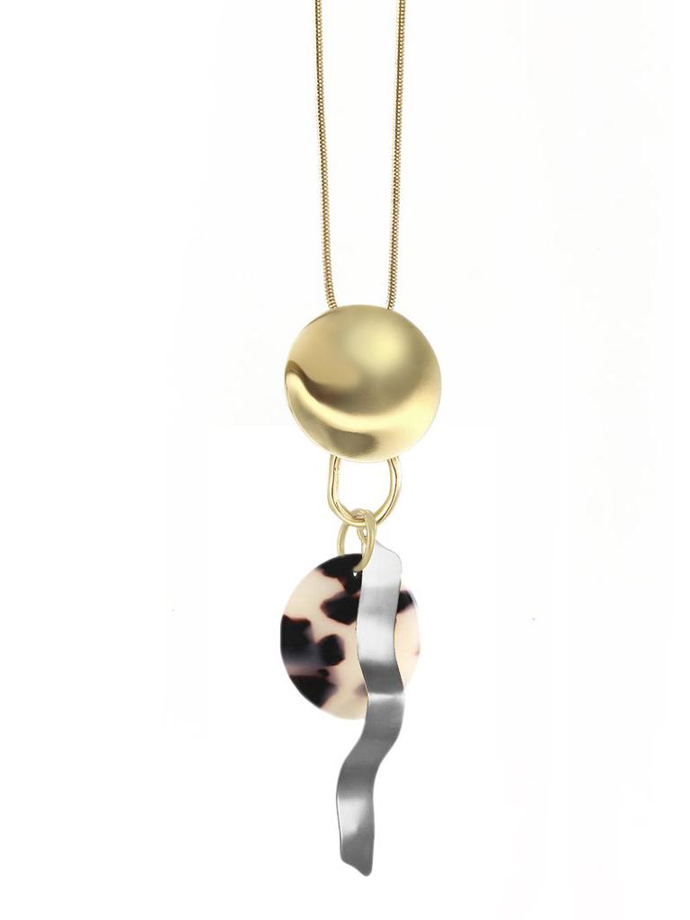 画像1: ★50%OFF★【BIKO】CONFETTI PENDANT [Gold/Ivory-Tortoise] (1)