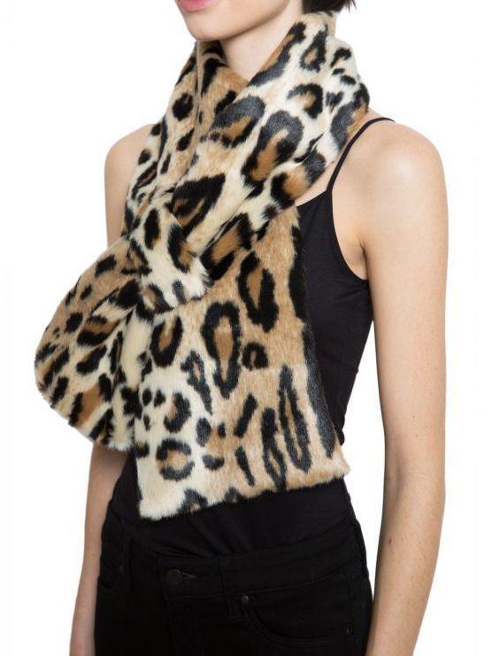 画像1: 【APPARIS】Amelie Faux-Fur Scarf  / フェイクファースカーフ [Leopard] (1)