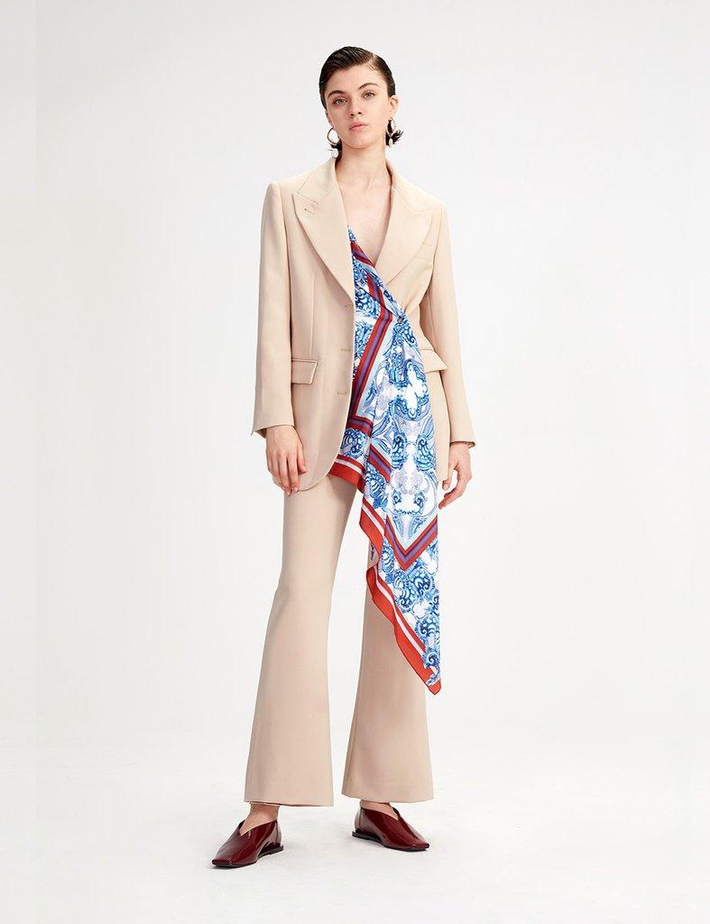 画像1: 【SIMONETT】Cotedian Jacket / スカーフ付きブレザージャケット[Beige] (1)
