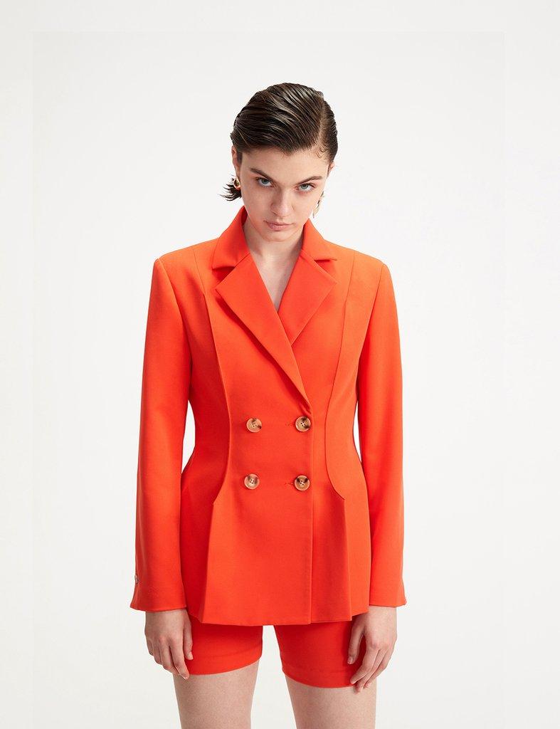 画像1: ★60%OFF★【SIMONETT】Fuega Jacket / ダブルブレストブレザージャケット[Orange] (1)