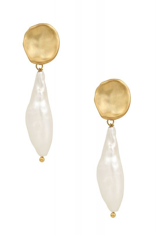 画像1: ★40%OFF★【Five And Two Jewelry】Inez Earrings 天然パールチャームピアス[Gold] (1)