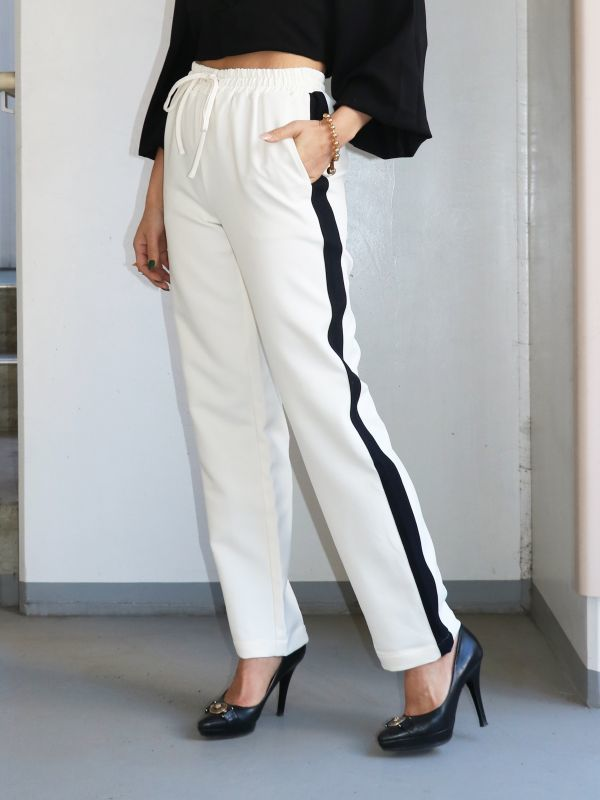 画像1: ★60%OFF★【CURRENT AIR】 Side Line Pants / サイドラインパンツ[Ivory] (1)