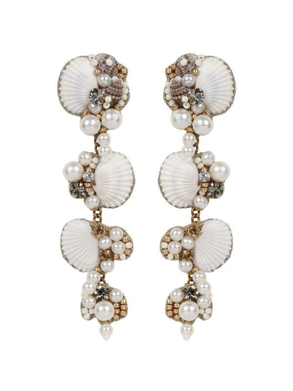 画像1: ★30%OFF★【DEEPA GURNANI】Alliyah Earring[White] (1)