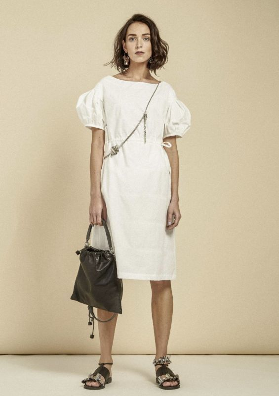 画像1: 【Methodology】Lola Dress / バルーンスリーブワンピース[White] (1)