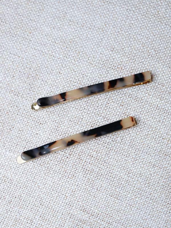 画像1: Tortoise Hair Pin Set / トータスヘアーピンセット[Beige] (1)